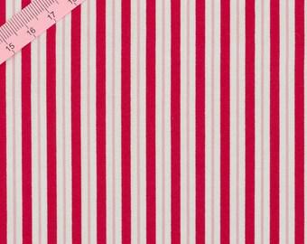 Tilda Red Stripe Fabric  / Wintergarden Collection - Half Metre / 0.54yards