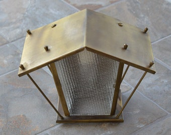 1950's Unusual Porch Light Sconce Mid Century Modern Fixture House Shaped Rare