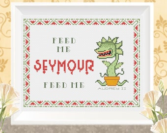 Feed Me Seymour, Little Shop of Horrors, Audrey II cross stitch (pattern only)