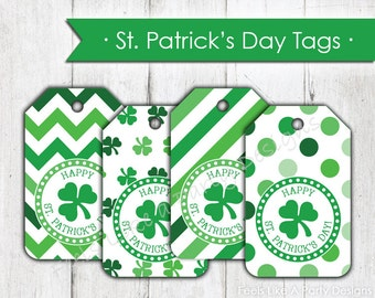 St. Patricks Day Tags - Instant Download