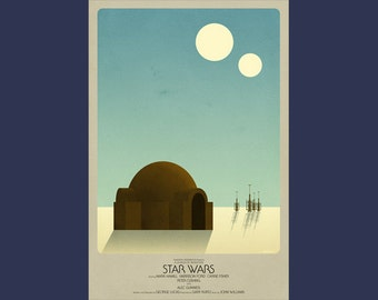 Star Wars Episode IV A New Hope Print (two sizes)