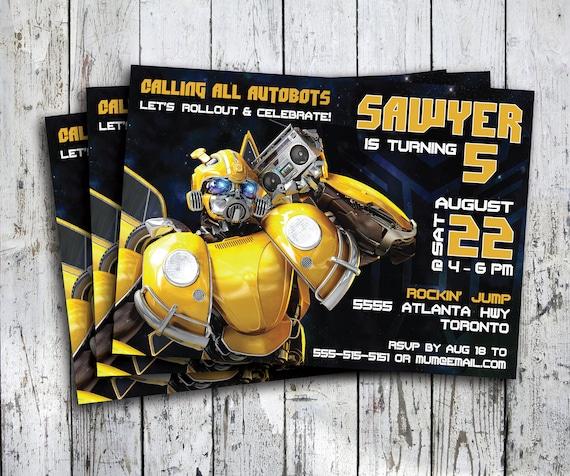 bumblebee birthday invite transformers invite ticket invitation bumblebee party invitation bumblebee birthday digital printable