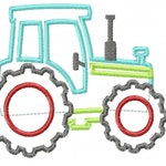 Tractor Applique Design INSTANT DOWNLOAD