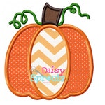 Pumpkin Applique Design INSTANT DOWNLOAD