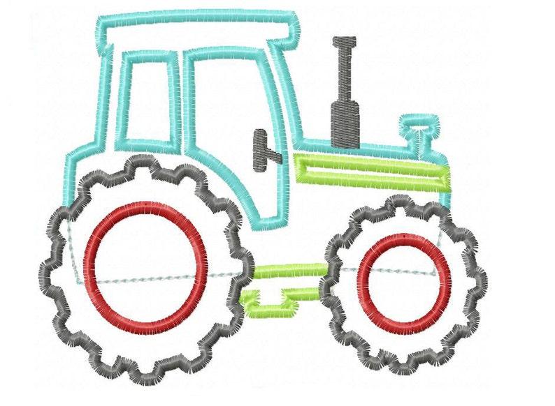 Tractor Applique Design INSTANT DOWNLOAD image 0