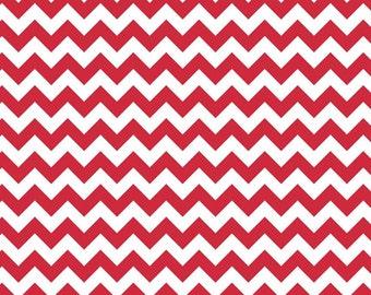 CLEARANCE - Riley Blake Knit Small Chevron Red - 1/2 Yard - SALE
