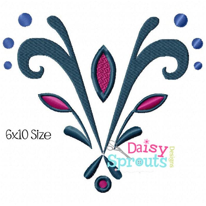 Ice Queen Coronation Bodice Embroidery Design image 0