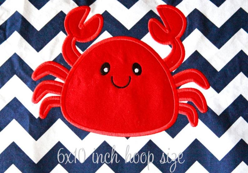 Crab Applique Design INSTANT DOWNLOAD image 0