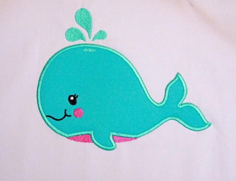 Whale Applique Design INSTANT DOWNLOAD image 0