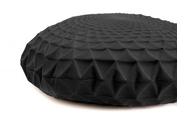 Ronde zwarte kussen dekking 60 cm 23.6 inch boho chique huis etsy