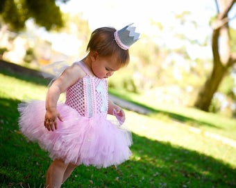 First Birthday Outfit, 1st Birthday Dress, Pink Birthday Dress, Pink and Gold Birthday, Pink Tutu Dress, First Birthday Girl, Silver Tutu
