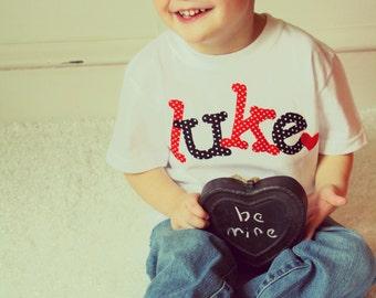 Valentine Shirt, Boys Heart Shirt, Boy Valentine Shirt, Baby Boy Shirt, Custom Shirt, Kids Clothes, Personalized Shirt