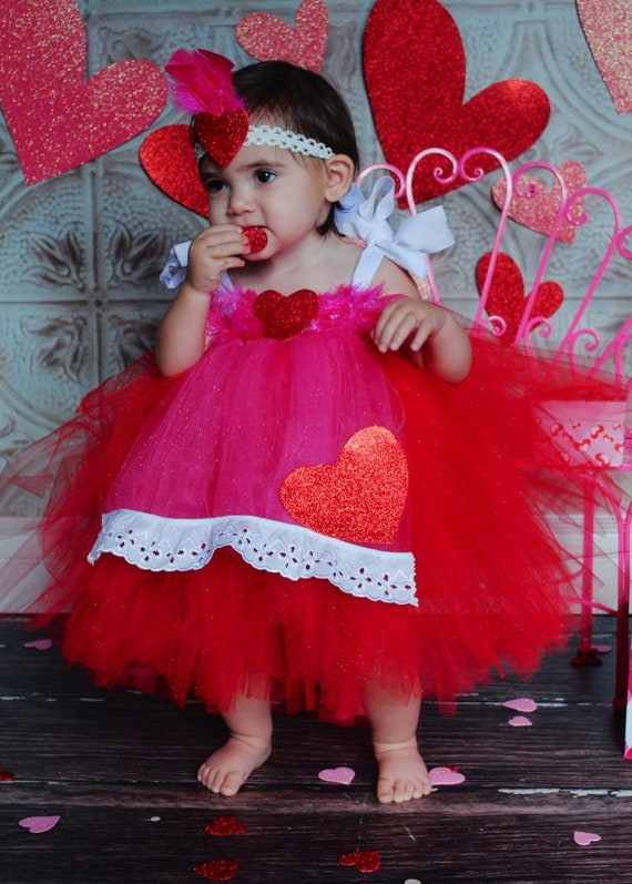 toddler Valentine/'s Day Tutu /& crochet fuzzy Top Valentines Day Outfit 2-3 yrs