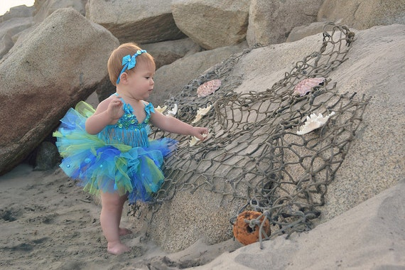 Mermaid Tutu OOC Halloween Costume Mermaid Mermaid Party Mermaid Costume Beach Birthday Ocean Theme Baby Bikini Little Mermaid