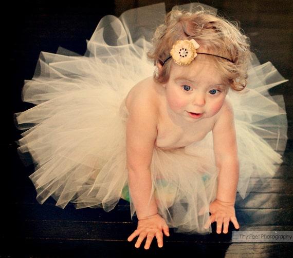 993ab9112d6 Ivory Tutu Off White Tutu Flower Girl Tutu Baby Tutu Cream