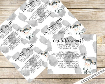 Cow Bring A Book Baby Shower Insert, INSTANT DOWNLOAD, Digital File, Printable _1324