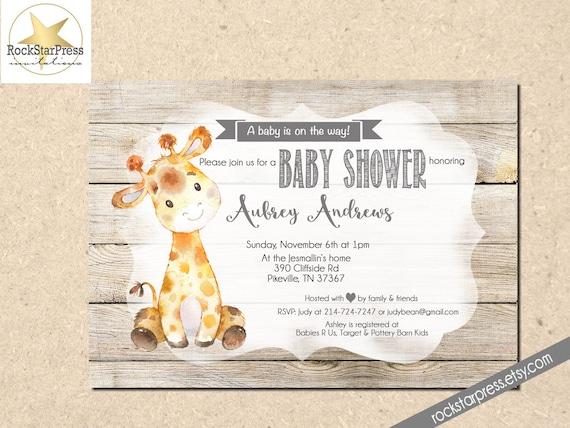 Giraffe baby shower invitation gender neutral shower etsy image 0 filmwisefo