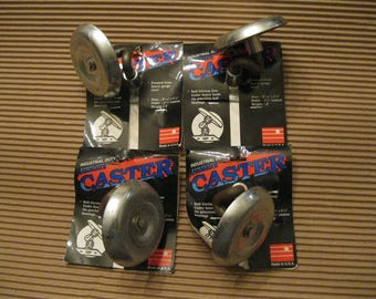 4 Metal Caster Wheels-caster wheels-Industrial Duty Casters-Industrial Dolly Casters-DIY Dolly Casters-Heavy Duty Casters-Rustic Casters