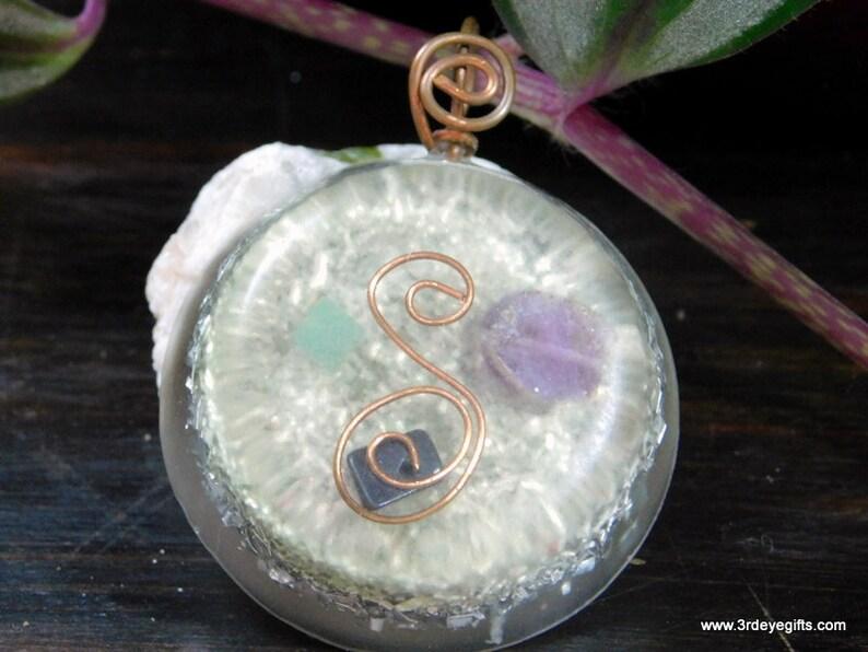 Amethyst /& Jade Orgone Pendant to Attract Money On SALE! Amethyst Orgone Necklace Jade Necklace Resin Pendant ~677
