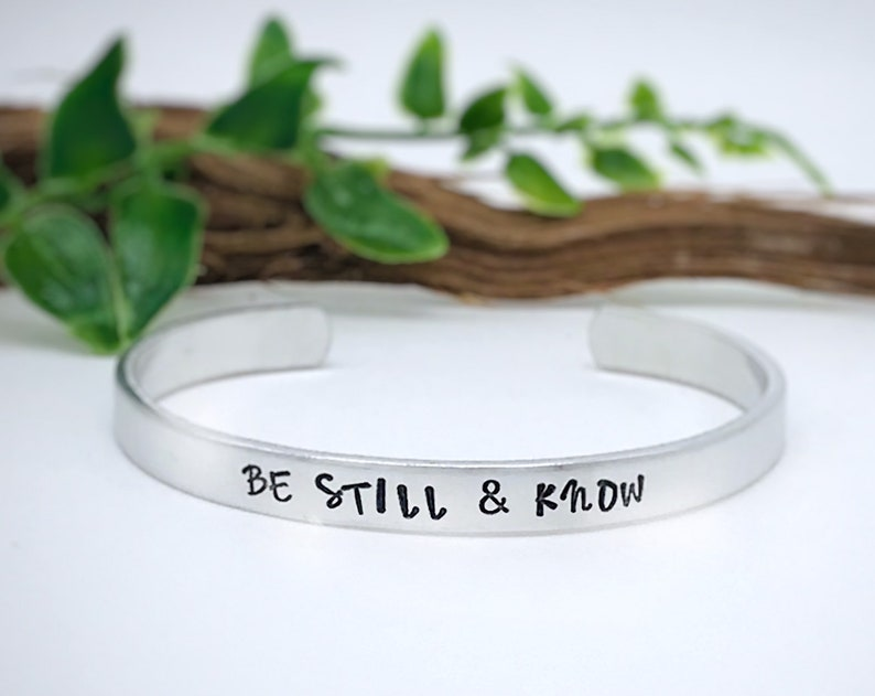 Be Still and Know Bracelet Christian Jewelry Bible Verse image 0