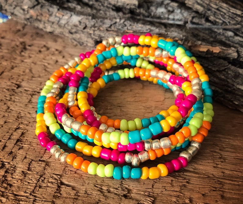 Wrap Bracelet Bohemian Bracelet Long Necklace Seed Bead image 0