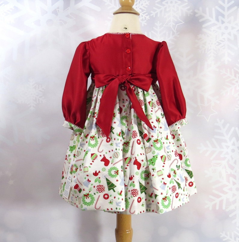 1a6cacbc5 Toddler Girl Dress Size 2T Christmas Dress Handmade Red | Etsy
