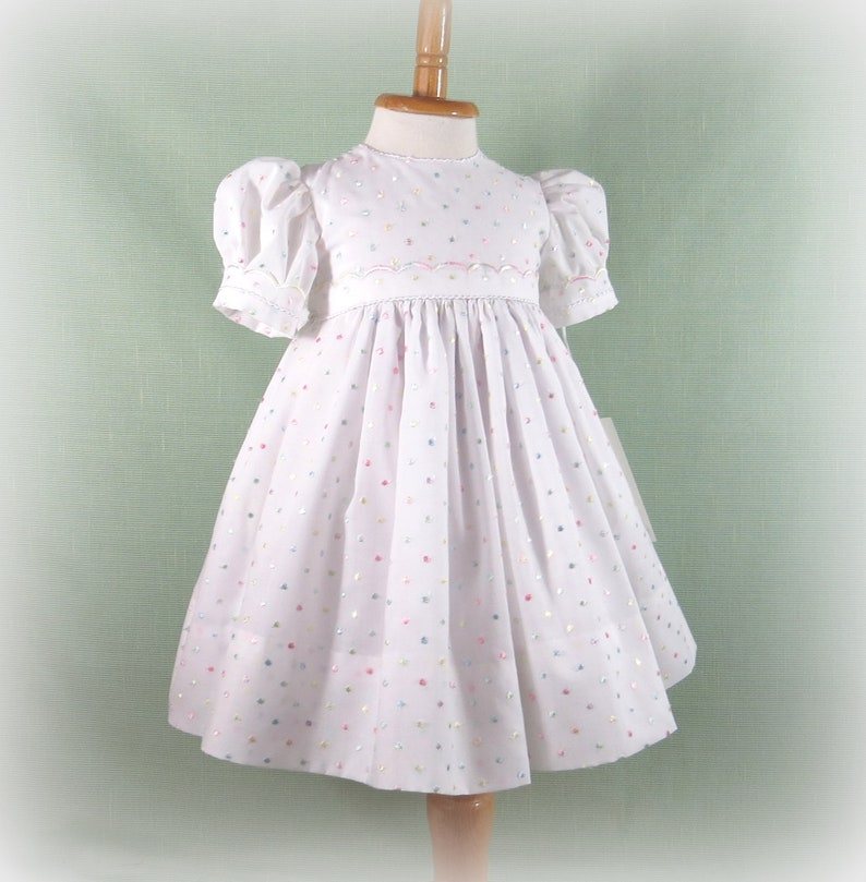 e130f782c7b3 Infant Girl Dress Size 9 to 12 Months Handmade Embroidered