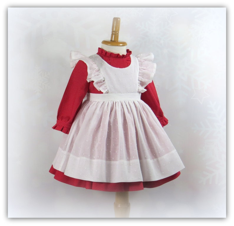 ab8a38a8a185 Victorian Inspired Baby Girl Dress Size 9 Months Ruffled