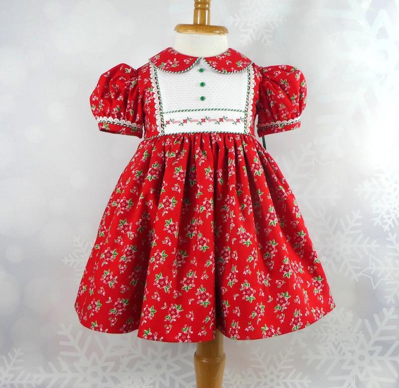 bfbed3ab0b9e Infant Christmas Dress Size 12 Months Handmade Pixie Noel   Etsy