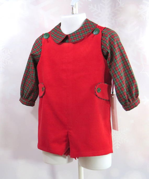 18052b2a4 Infant Boy Christmas Outfit Size 12 Months 2 Piece Shirt