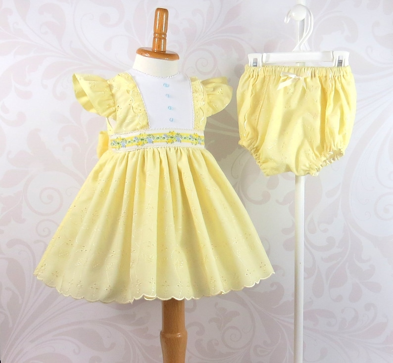 48e85db1d4 Baby Girl Dress and Diaper Cover Easter Dress Size 12