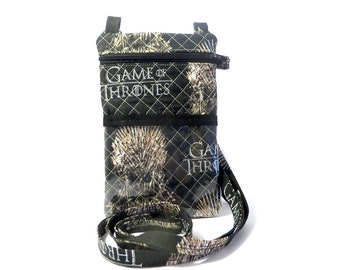 Game of Thrones Inspired Neck Pouch Phone Travel Case w/ Adjustable Strap and Wristlet