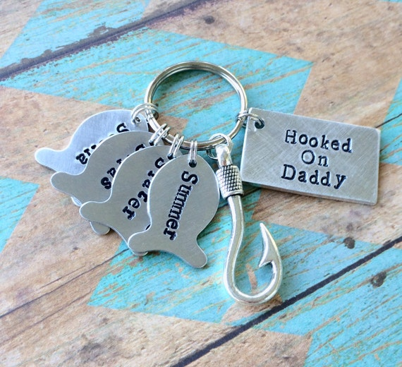Daddy Keychain Father\'s Day Gift dads best catch | Etsy