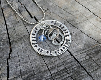 My Heart Belongs to a Policeman necklace, my heart belongs to a Deputy necklace, my heart belongs to an Officer Necklace