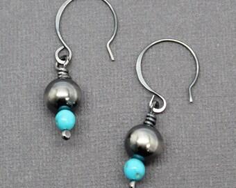 Sterling Navajo Earrings FIJ Southwestern