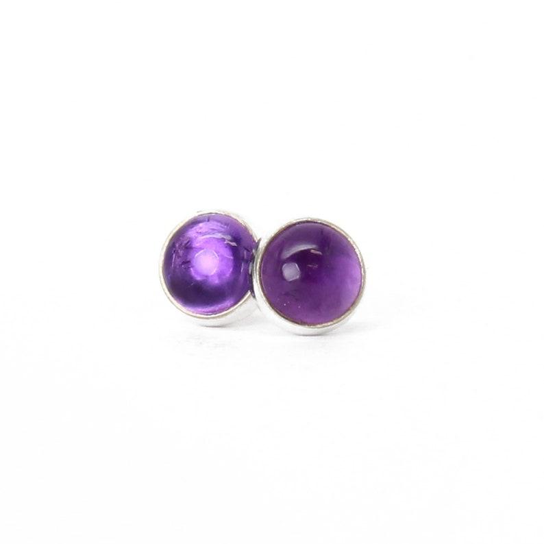 1b786bdb6 Amethyst Stud Earrings Purple Stud Earrings 6mm Amethyst   Etsy