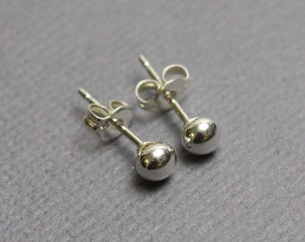 Tiny 3mm Sterling Silver Studs, Silver Studs, Small Stud Earrings, Silver Stud Earrings, Recycled Silver Earrings, Silver Post Earrings