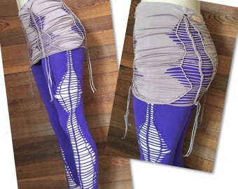 Scrunchy Butt Skirt to Pair with Leggings Beach Yoga Dance Swim Fitness Athleisure Festival Bottoms