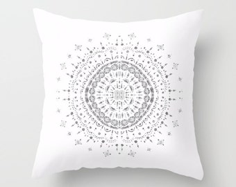 White Throw Pillow Etsy