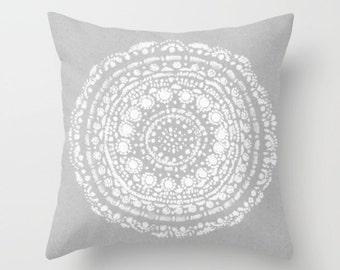 Grey Throw Pillows Etsy