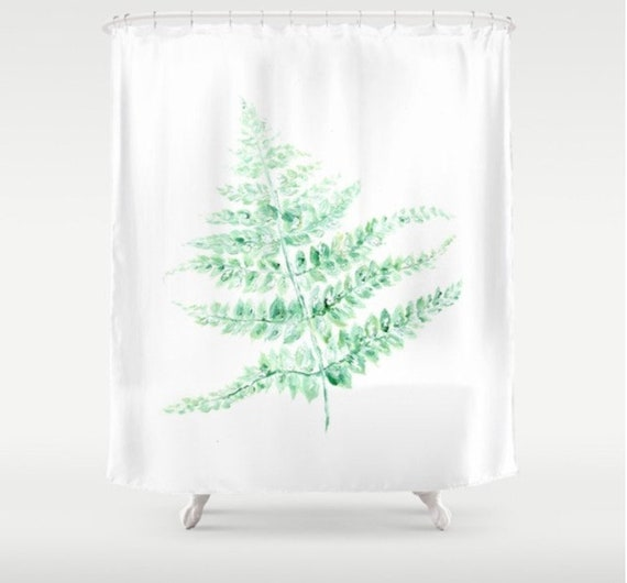 Fern Shower Curtain Botanical Minimalist