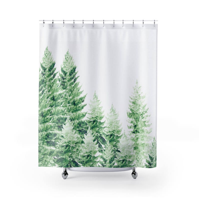 Pine Tree Shower Curtain Forest