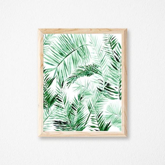 Palm Leaf Printable Art Palm Leaf Print Palm Leaf Printable Etsy