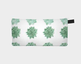 Succulent Pouch, cactus pouch, cactus makeup bag, pencil pouch, plant lover gift, cactus gift idea