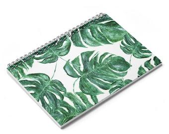 Palm leaf notebook, monstera leaf, palm notebook, leaf notebook, palm leaf journal