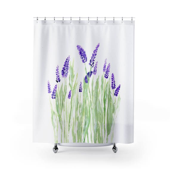 Lavender Shower Curtain Floral