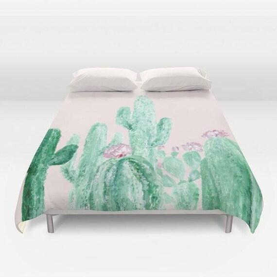 fard joues rose cactus housse de couette housse de couette etsy. Black Bedroom Furniture Sets. Home Design Ideas