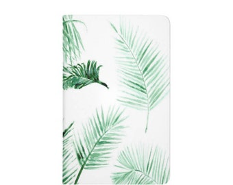 Palm Leaf Notebook, palm leaf journal, bullet journal, pocket journal, tropical notebook, tropical leaf, palm leaves