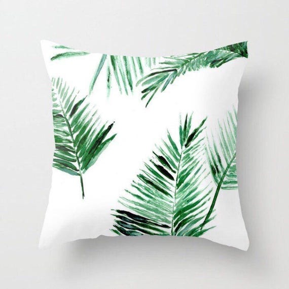 Groovy Palm Leaf Throw Pillow Palm Leaf Pillow Palm Leaves Pillow Palm Throw Pillow Leaf Throw Pillow Modern Pillow Tropical Pillow Ocoug Best Dining Table And Chair Ideas Images Ocougorg