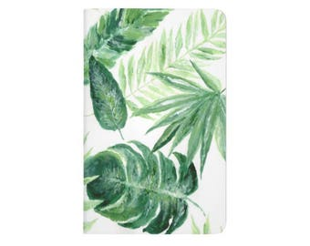 Palm Leaf Notebook, palm leaf journal, tropical leaf, bullet journal, pocket journal, tropical notebook, tropical journal